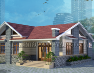 Thiết kế kiến trúc nhà Biệt thự của Chú Hà – Thúy Lĩnh