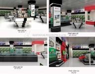 Thiết kế nội thất Gian Hàng Trưng Bày – Siêu Thị Điện Máy