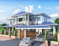 Thiết kế kiến trúc nhà Biệt thự của Anh Long – Hạ Đình