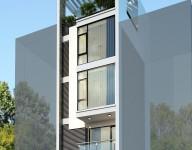 Thiết kế Kiến trúc nhà lô phố: Mr Lâm –  Bùi Xương Trạch